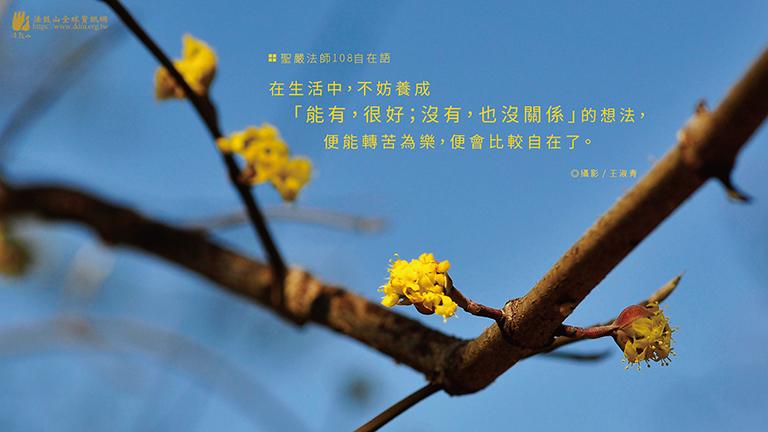 在生活中,不妨養成「能有,很好;沒有,也沒關係」的想法,便能轉苦為樂,便會比較自在了。
